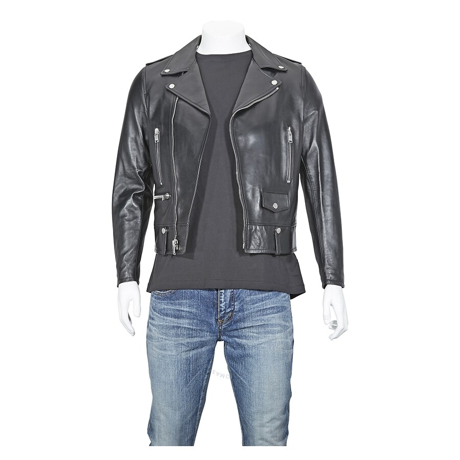 d4728cdbb9c Saint Laurent Classic Motorcycle Jacket In Washed Leather- Size 46 ...