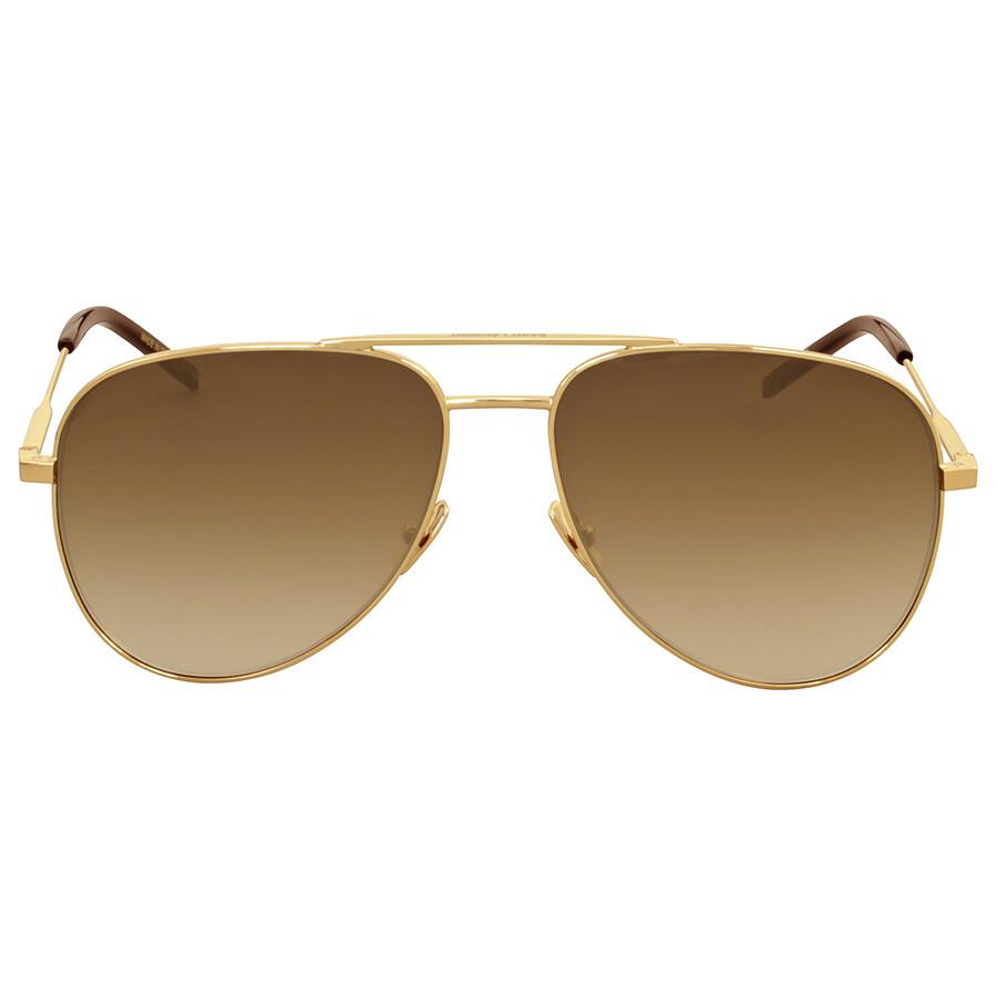 08c1db7dea Yves Saint Laurent Gold Aviator Sunglasses - Yves Saint Laurent - Sunglasses  - Jomashop