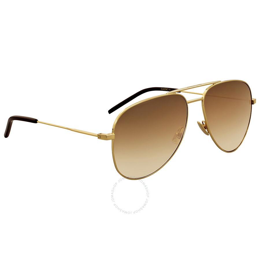 Yves saint laurent gold aviator sunglasses yves saint for Miroir yves saint laurent