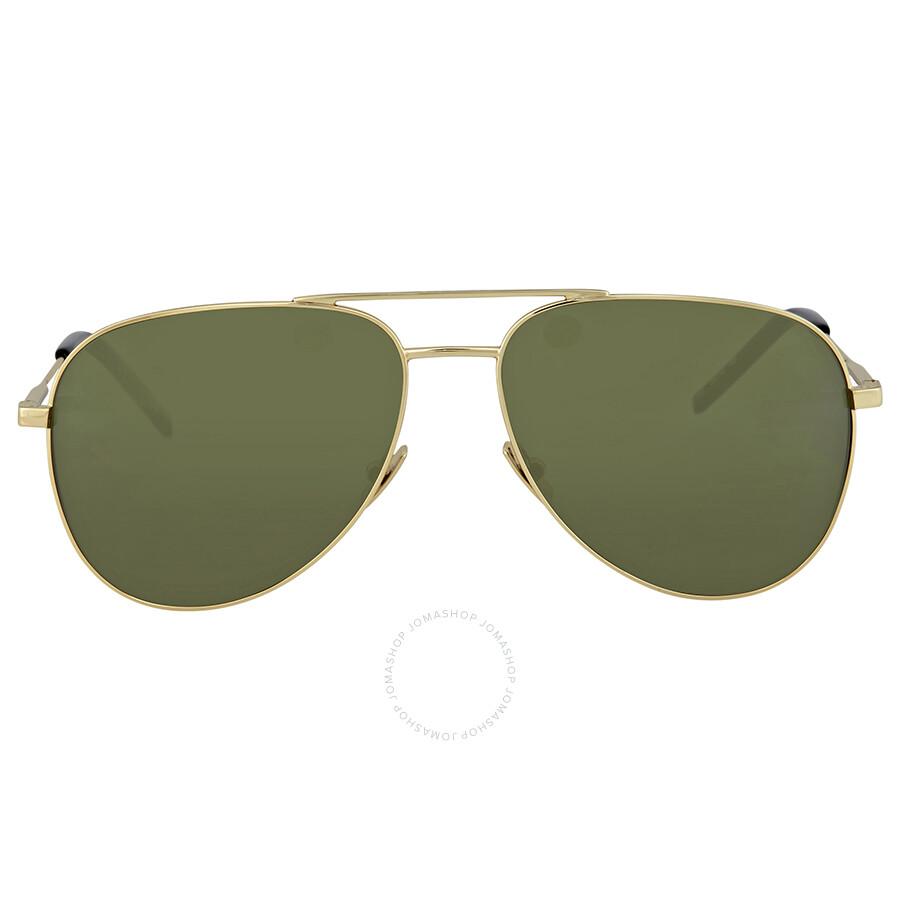 6fbae4f2c52 Saint Laurent Gold Aviator Sunglasses - Saint Laurent - Sunglasses ...