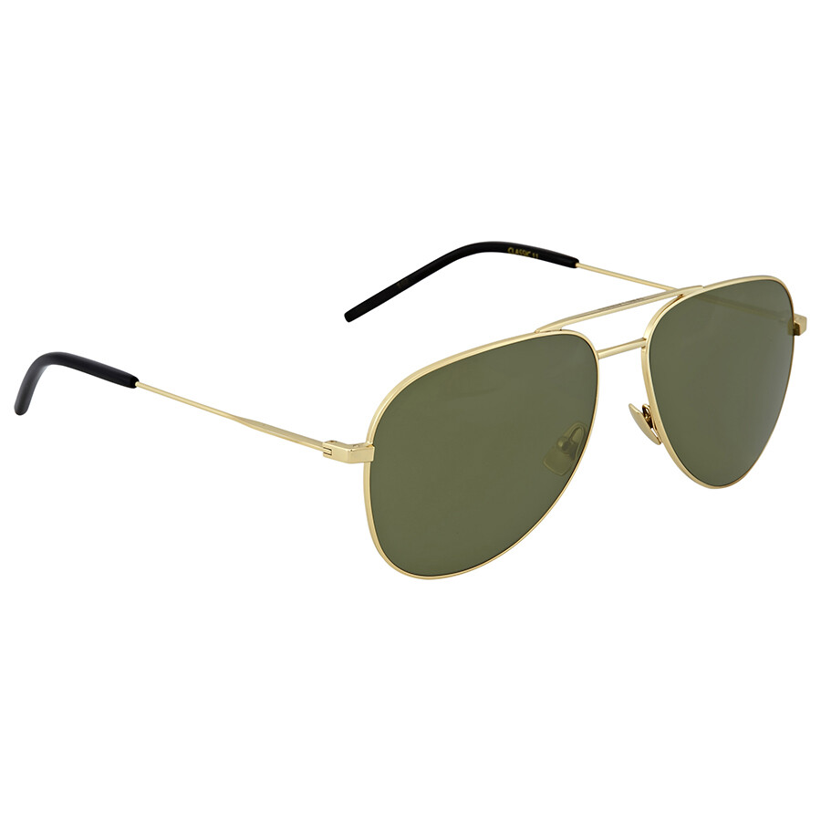 dba0410a363f5 Saint Laurent Gold Aviator Sunglasses - Saint Laurent - Sunglasses ...