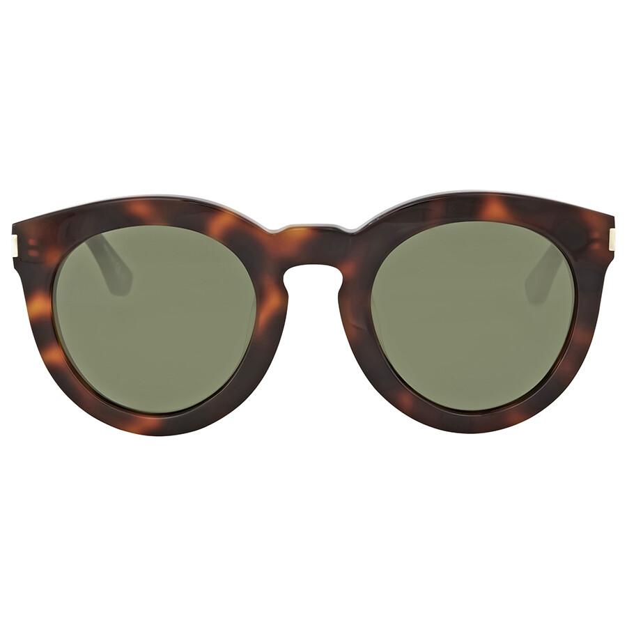 d03464441110 Saint Laurent Havana Round Sunglasses - Saint Laurent - Sunglasses ...