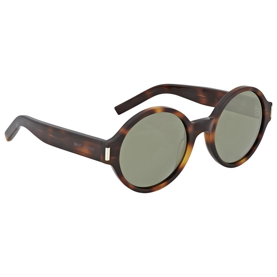 e23dca08359 Yves Saint Laurent Havana Round Sunglasses - Yves Saint Laurent - Sunglasses  - Jomashop