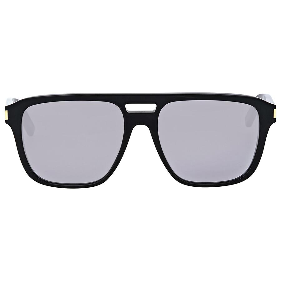 f2a5cdb1876 Saint Laurent Light Grey Lenses Rectangular Sunglasses - Saint ...