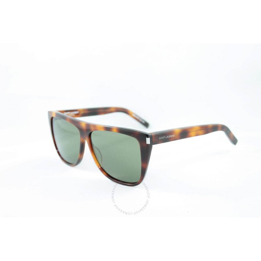 ce65c9deea7 Saint Laurent Light Havana Rectangular Sunglasses - Saint Laurent ...