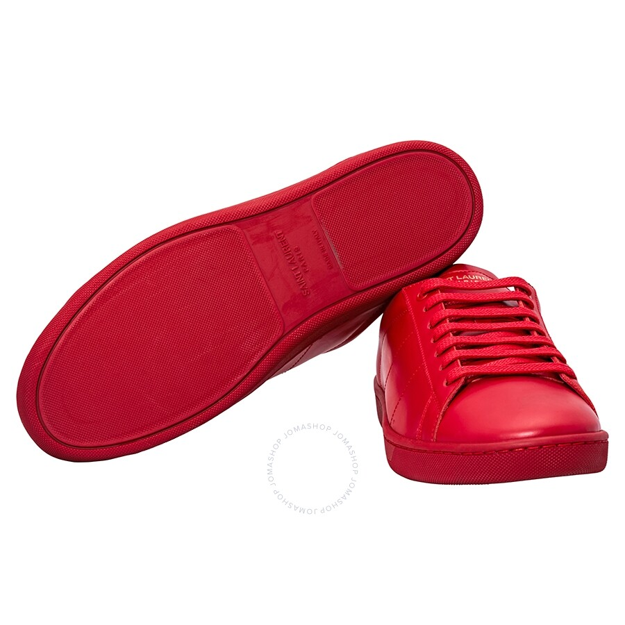 b751869c6210 Yves Saint Laurent Men s Red Low Top Sneakers- Size 40.4 - Shoes ...