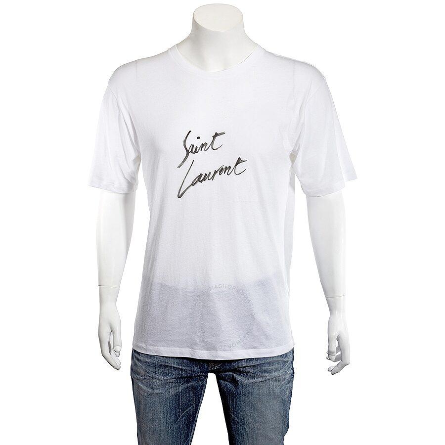 3e00e5a8541197 Saint Laurent Men's Signature T-Shirt- Size S - Apparel - Fashion ...