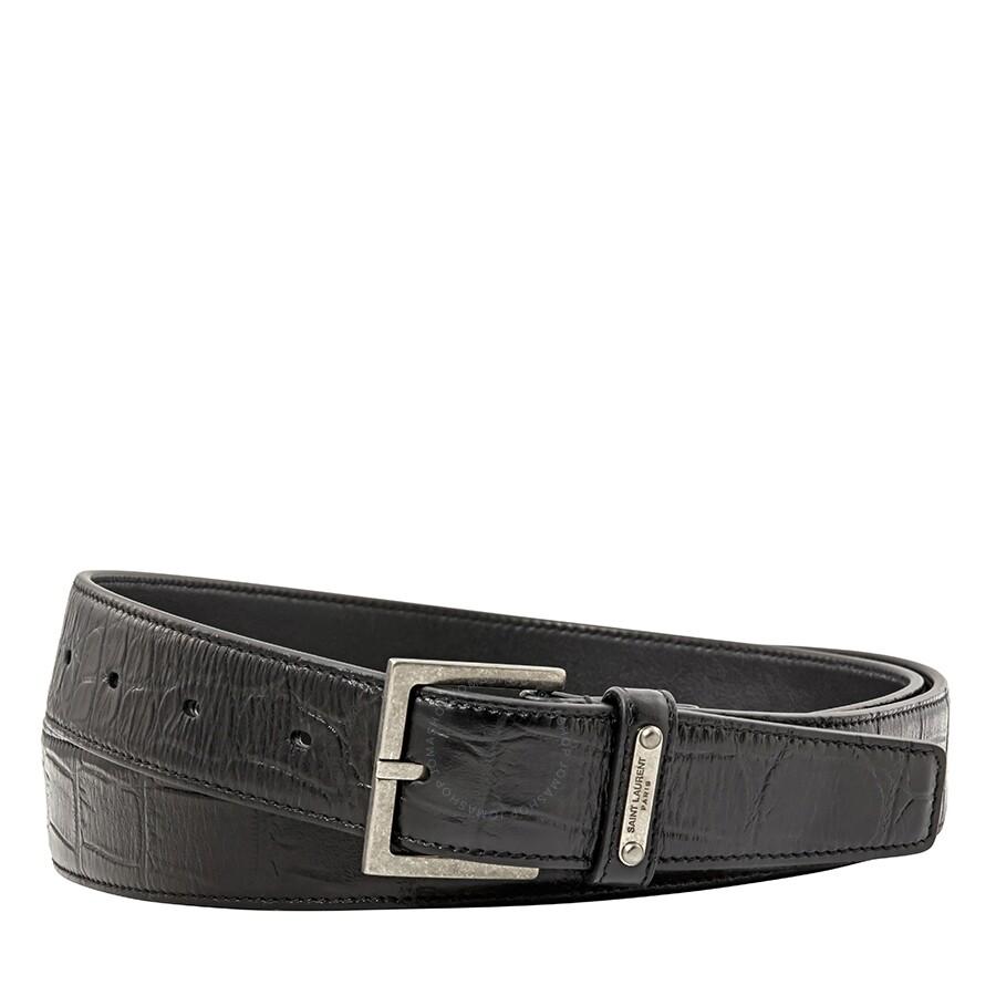 a13059e08 Saint Laurent Men's Leather Belt- Size 105 - Apparel - Fashion ...