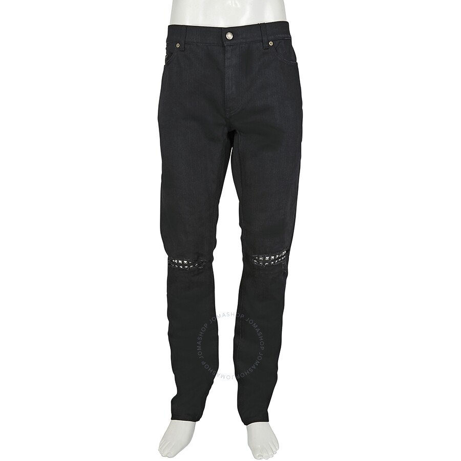 942ede3d04a Saint Laurent Men's Original Low Waisted Studded Skinny Jean- Size 36 ...