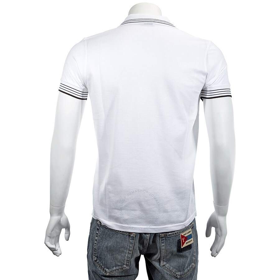 62606018 ... Saint Laurent Polo Shirt in White and Black Pique Cotton- Size L ...