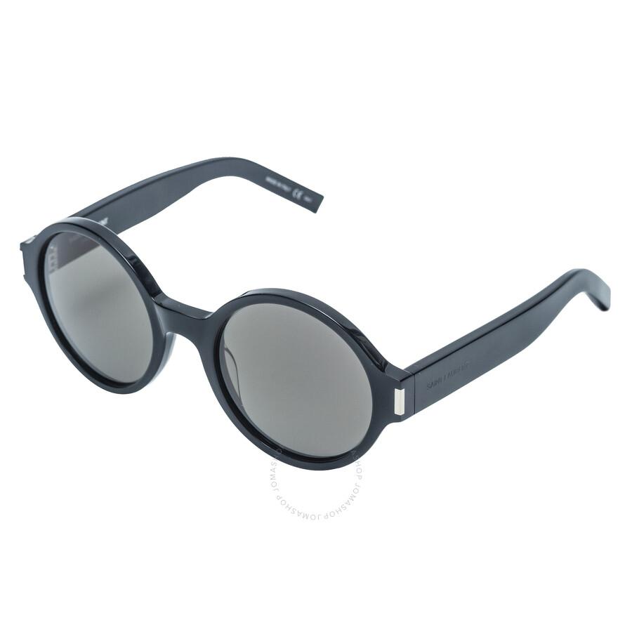 aa4f32d3659 Saint Laurent Round Black Sunglasses - Saint Laurent - Sunglasses ...