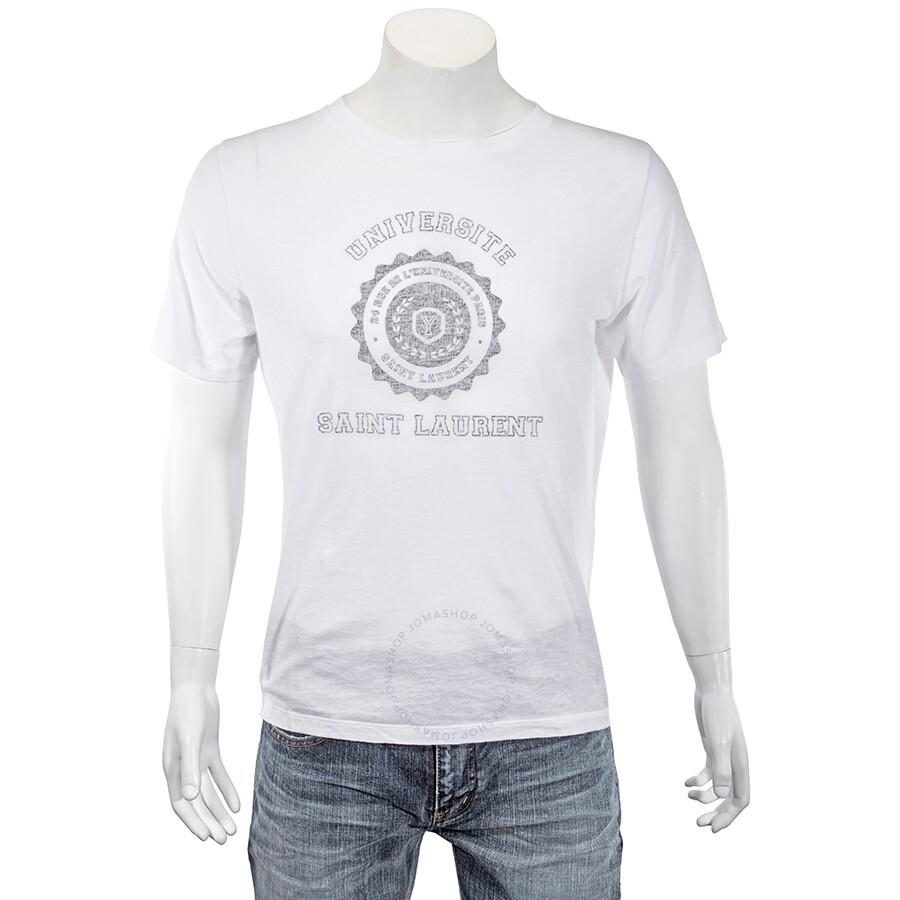 c3c60d1cff538 Saint Laurent Short Sleeve Universite T-Shirt- Size L - Apparel ...