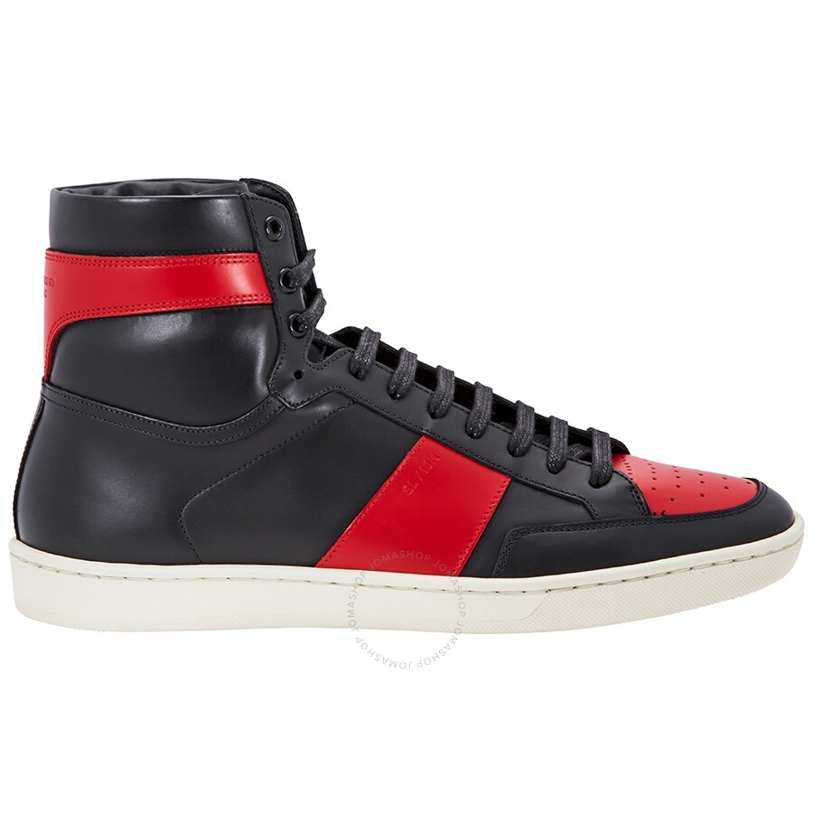 078ef920 Saint Laurent Signature High Top Black/Red Sneaker
