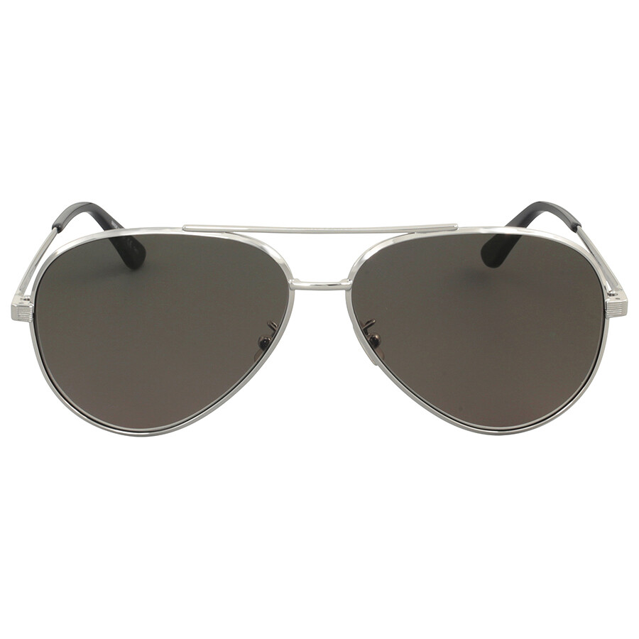silver aviator sunglasses  Yves Saint Laurent Silver Metal Aviator Sunglasses - Yves Saint ...