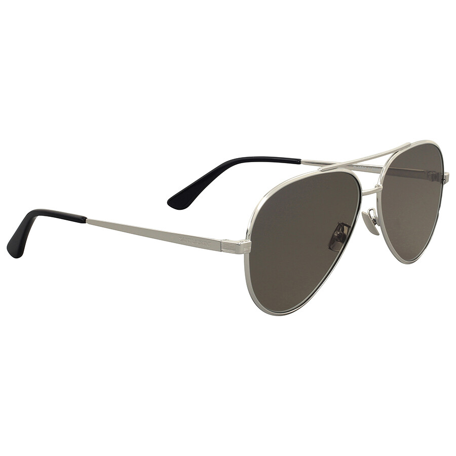 c088d8a0f8d Yves Saint Laurent Silver Metal Aviator Sunglasses - Yves Saint ...