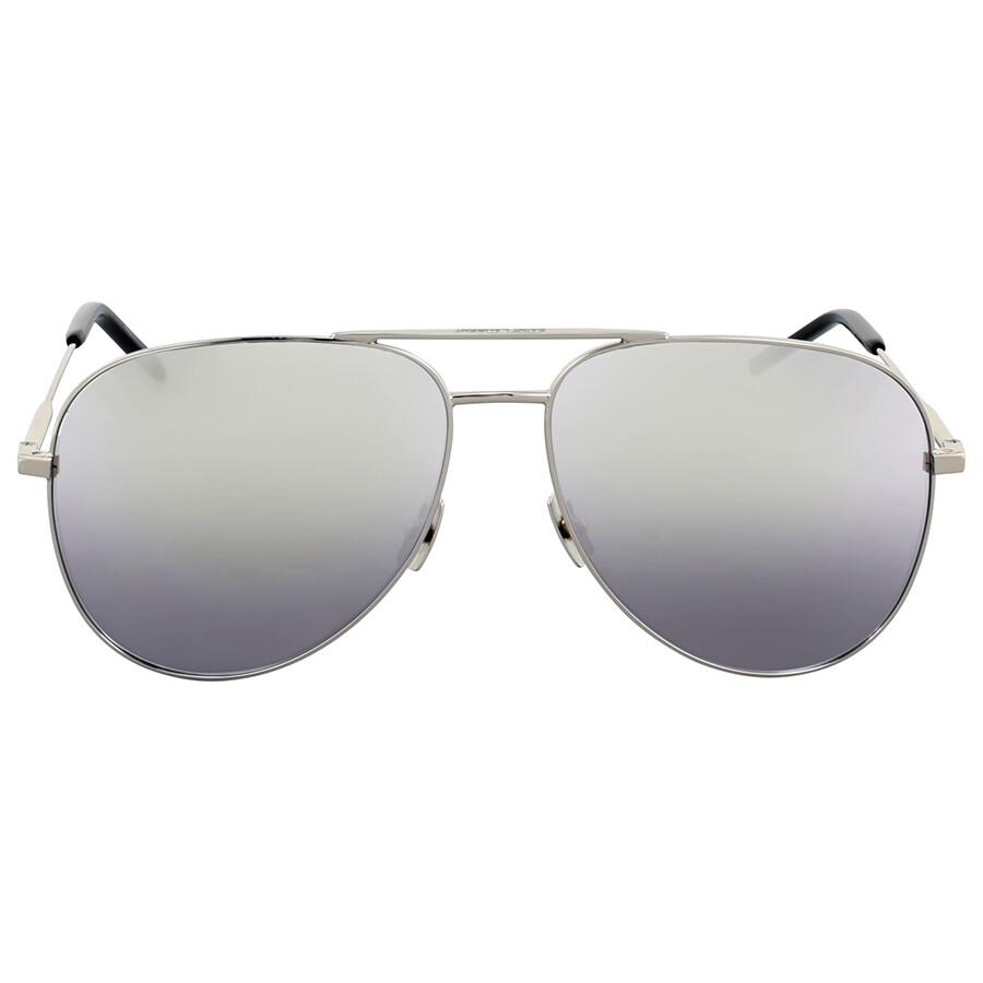 b11332f93 Saint Laurent Silver Metal Aviator Sunglasses - Saint Laurent ...
