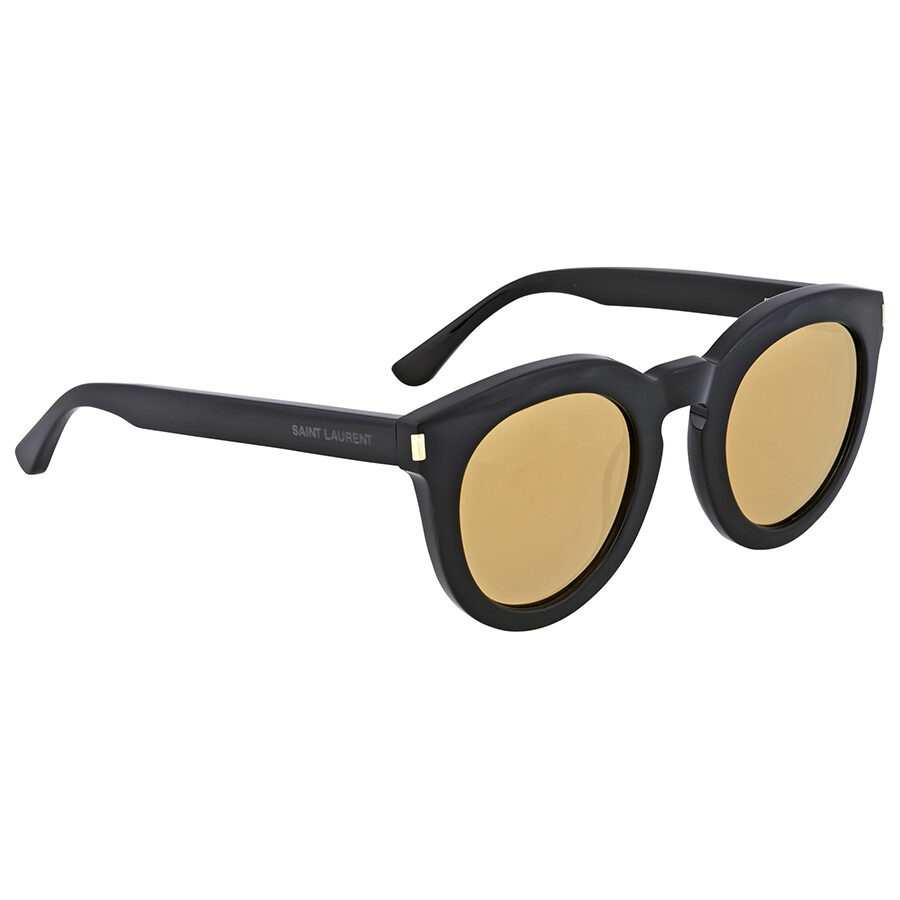 72e71360c4a Yves Saint Laurent Yellow Lenses Round Sunglasses - Yves Saint ...