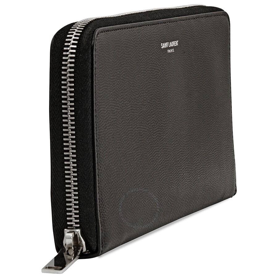 a4936695ff22 Yves Saint Laurent Zip Around Wallet- Black - Yves Saint Laurent ...