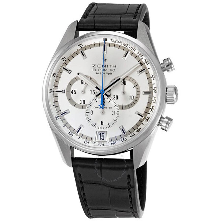 detailed look 4dc88 75bf3 Zenith El Primero Silver Chronograph Dial Men's Watch 03204040001C496