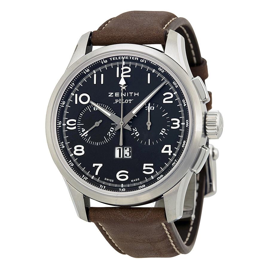 d6c73d990f1 Zenith Big Pilot Automatic Chronograph Men s Watch 0324104010.21C722 Item  No. 03.2410.4010 21.C722