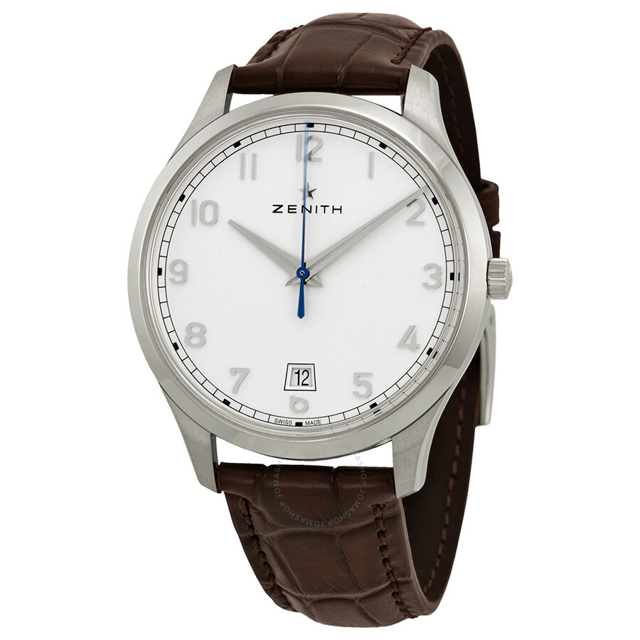 Zenith captain central seconds silver dial automatic men 39 s watch 03202267038c498 captain for Zenith watches