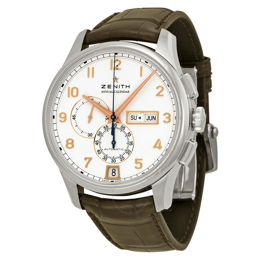 Zenith captain winsor automatic chronograph men 39 s watch 032072405401c711 captain zenith for Zenith watches