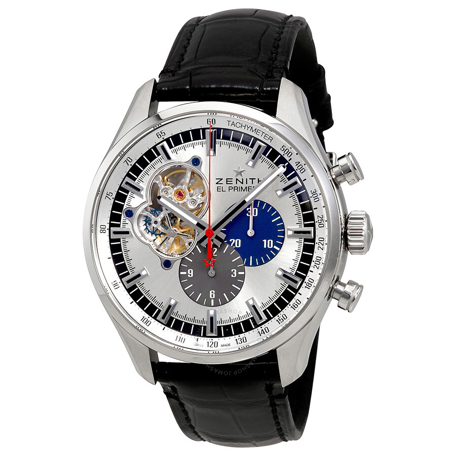 Zenith el primero chronomaster 1969 chronograph automatic men 39 s watch el for Zenith watches