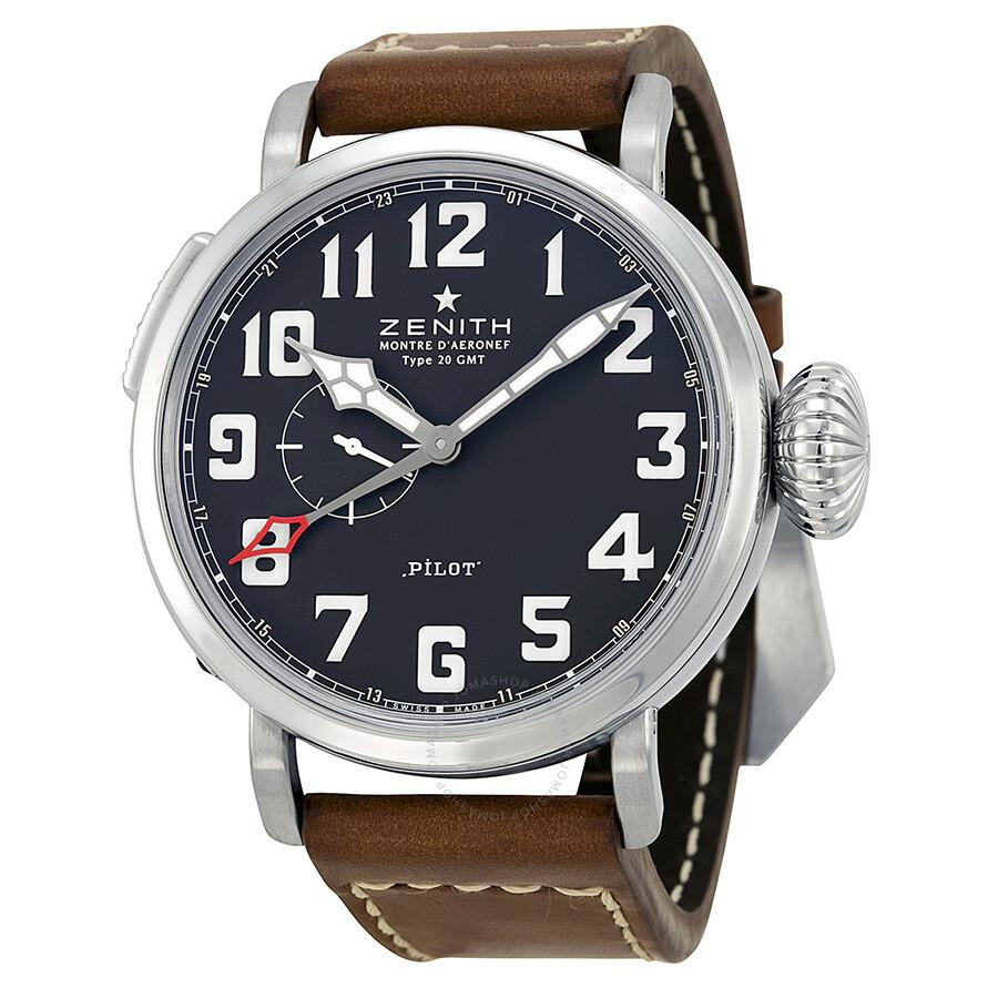Zenith Elite Pilot Automatic Black Dial Men's Watch 03.2430.693/21.