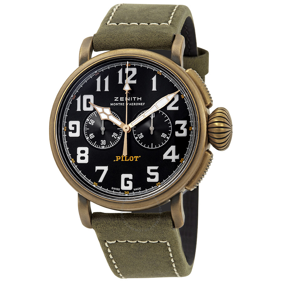 ebf43124e31 Zenith Pilot Chronograph Automatic Men s Watch 29.2430.4069 21.C800 ...