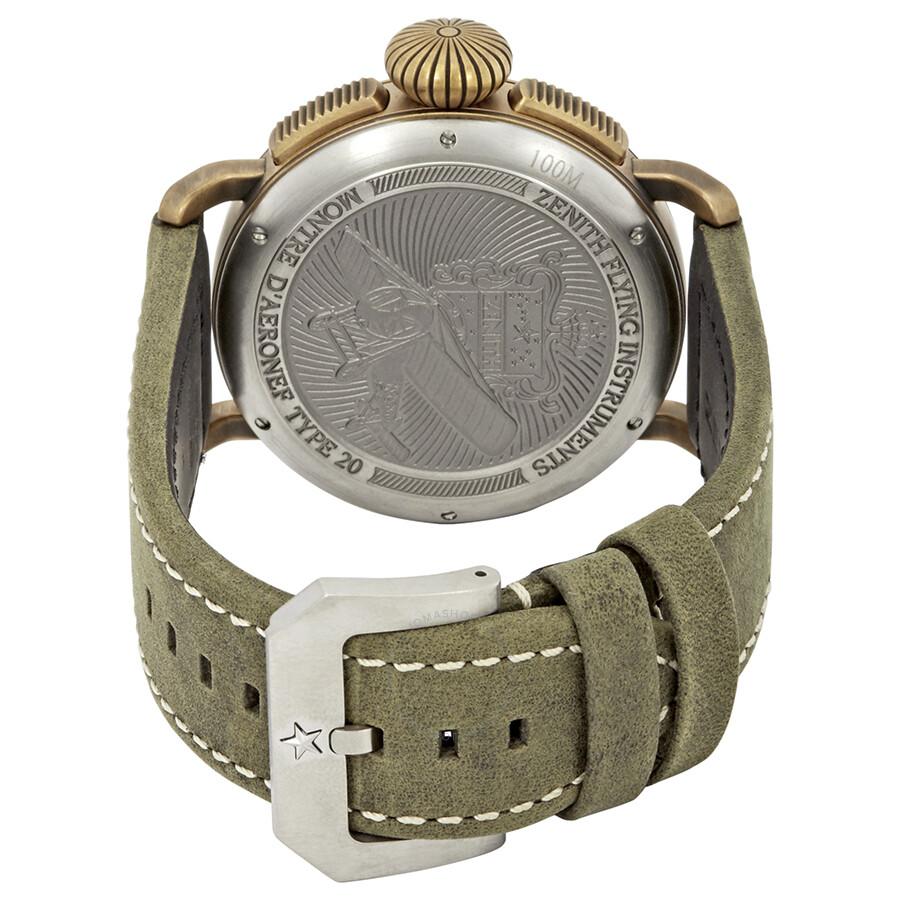 77989793472 C800 Zenith Pilot Chronograph Automatic Men s Watch 29.2430.4069 21.C800