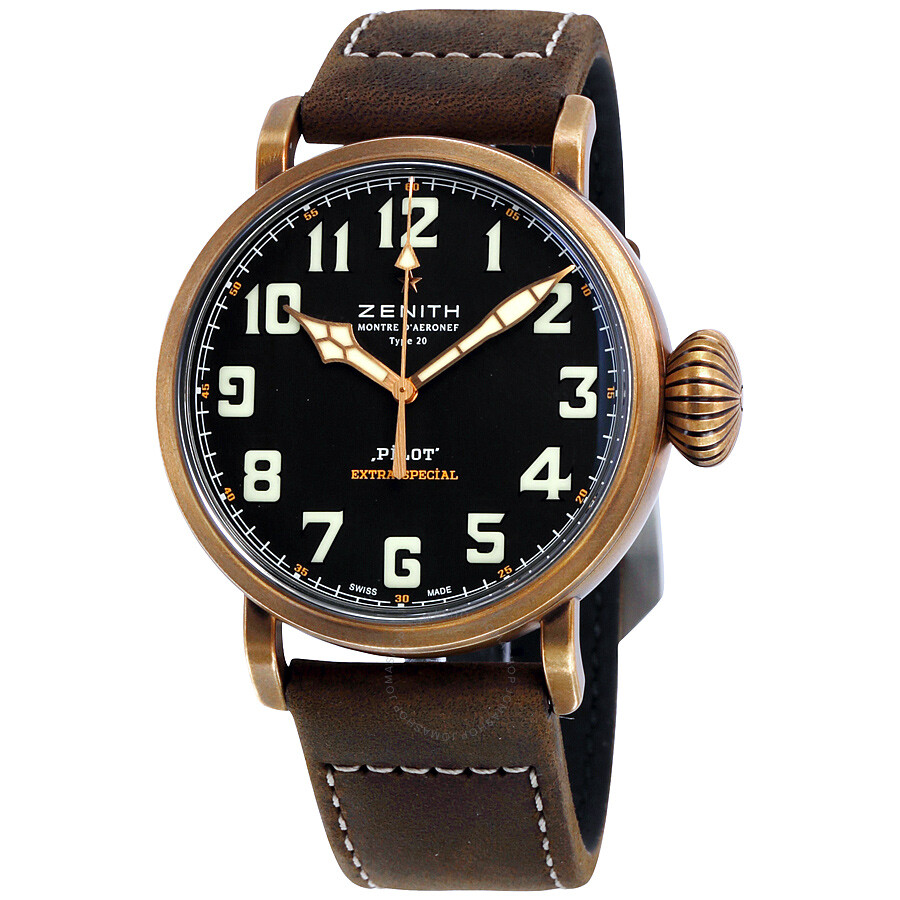 Zenith pilot montre d 39 aeronef type 20 automatic men 39 s watch pilot zenith for Zenith watches