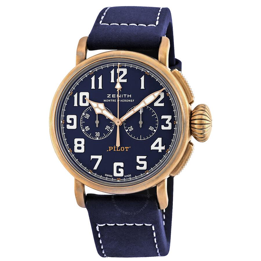 6d8f13b7e39 Zenith Pilot Type 20 Chronograph Automatic Blue Dial Men s Watch  29.2430.4069 57.