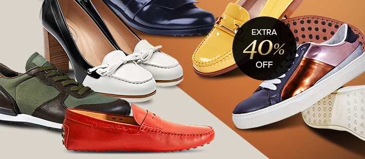 """TOD'S FOOTWEAR: EXTRA 40% OFF w/code """"TODS40"""""""